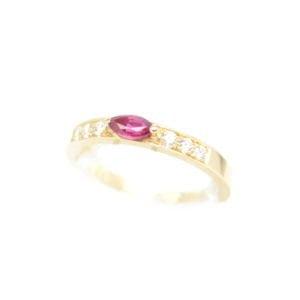 Gabriel Joaillier bague Aya diamants rubis or jaune