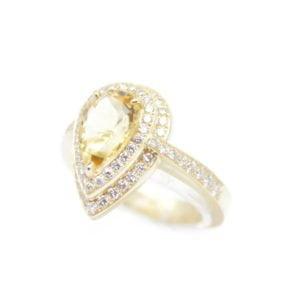 Gabriel Joaillier Toulouse bague citrine or jaune diamants