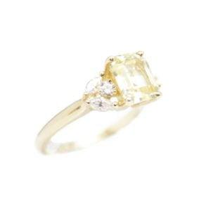 Gabriel Joaillier bague saphir jaune diamants or jaune
