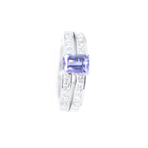 Gabriel Joaillier bague tanzanite diamants or gris